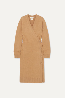 Bottega Veneta Wool Wrap Cardigan - Camel