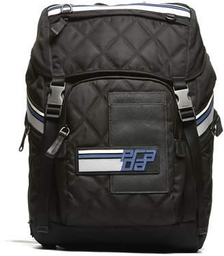 Prada Logo Patch Backpack