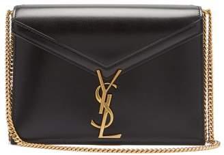 Saint Laurent Cassandra Monogram Leather Cross Body Bag - Womens - Black