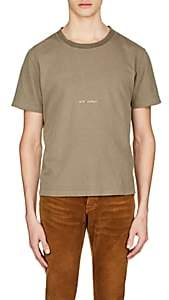 Saint Laurent Men's Logo Cotton T-Shirt - Olive