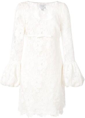Giambattista Valli lace balloon-cuff dress