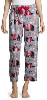 Lord & Taylor Printed Cotton Pajama Pants