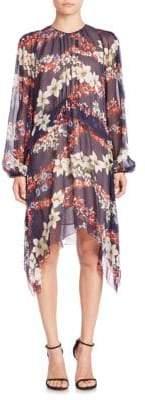 MSGM Silk Handkerchief Hem Dress
