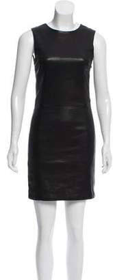 Neil Barrett Sleeveless Leather Dress