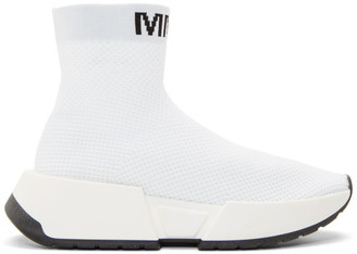 MM6 MAISON MARGIELA White Second Skin High-Top Sneakers