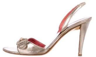 Salvatore Ferragamo Peep-Toe Slingback Sandals