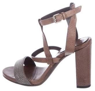 Brunello Cucinelli Leather Monili Sandals