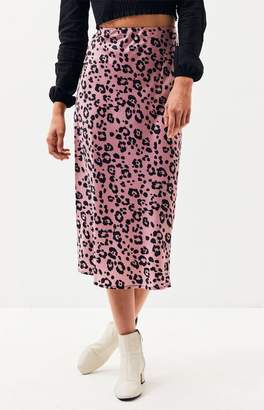 Lucca Couture Frost Bias Cut Midi Skirt