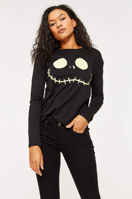 Ardene Jack Skellington Long Sleeve Tee