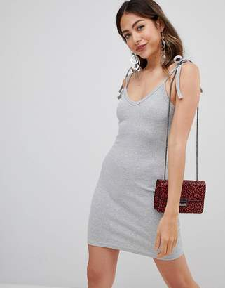 Missguided ribbed bodycon mini dress