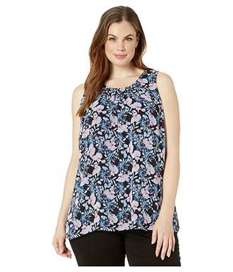 Vince Camuto Specialty Size Plus Size Sleeveless Charming Floral Chiffon Blouse
