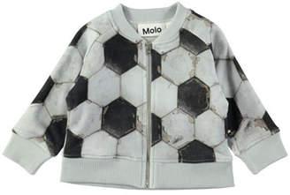 Molo Sear Zip-Up Soccer Ball-Print Jacket