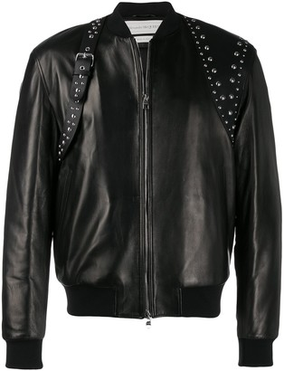 Alexander McQueen studded harness bomber jacket