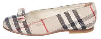 Burberry Girls' Nova Check Flats