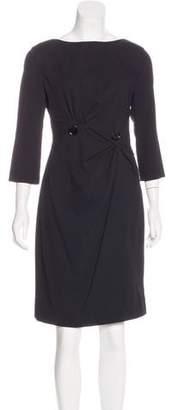 Versace Wool Button-Accented Dress