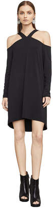 BCBGMAXAZRIA Adaly Cold-Shoulder Tunic Dress
