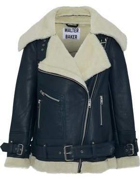 Walter W118 By Baker Celine Shearling Biker Jacket