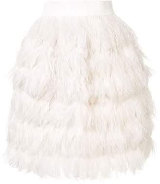 Dolce & Gabbana short feather skirt
