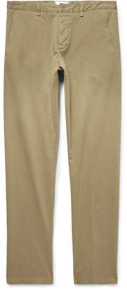 Ami Slim-Fit Stretch Cotton-Twill Chinos - Beige