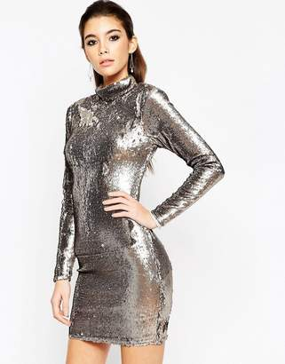 ASOS NIGHT Embellished Polo Sequin Mini Dress $100 thestylecure.com