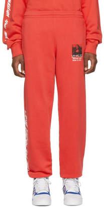 Off-White Off White Red Monalisa Slim Lounge Pants