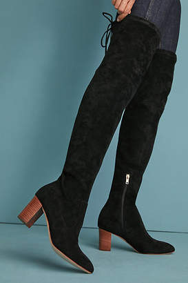 Anthropologie Over-the-Knee Tied-Back Boots