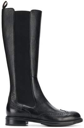 Santoni chelsea knee length boots