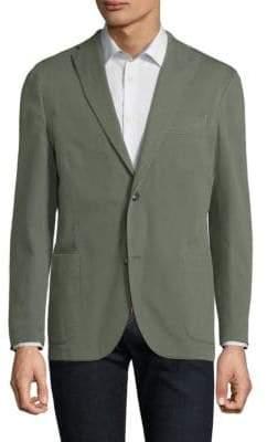 Boglioli Olive Hopsack Jacket