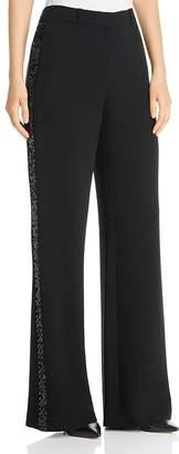 Lafayette 148 New York Dalton Sequin Stripe Wide Leg Pants