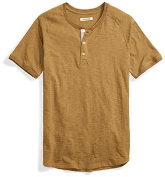 Goodthreads Men's Short-Sleeve Lightweight Slub Henley