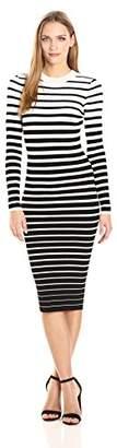 Milly Women's Degrade Stripe Fitted Dress