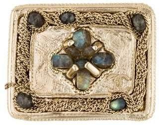 Chanel Labradorite & Chain Brooch