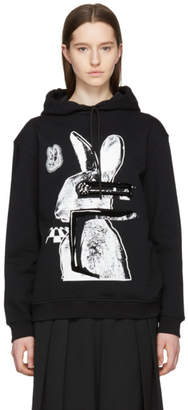 McQ Black and White Glitch Bunny Classic Hoodie