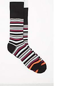 Paul Smith Men's Jito Cotton-Blend Mid-Calf Socks - Black