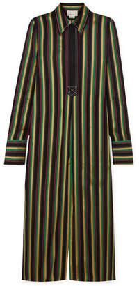 3.1 Phillip Lim Striped Satin Tunic - Black
