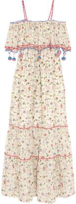 Off-White Anjuna - Violante Printed Crochet-trimmed Cotton-voile Maxi Dress