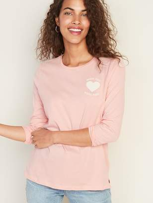 Old Navy Graphic Long-Sleeve Tee for Women