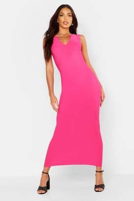 boohoo Notch Neck Maxi Dress