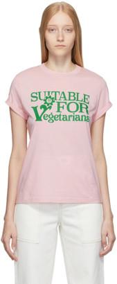 Stella McCartney Pink Suitable For Vegetarians T-Shirt
