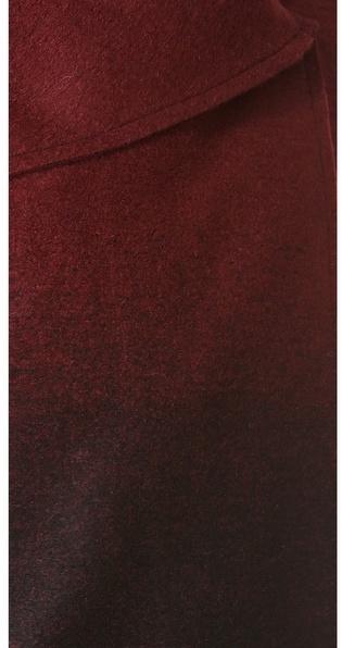 BB Dakota Amber Ombre Melton Coat