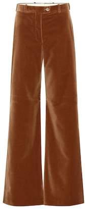 Acne Studios High-rise flared velvet pants