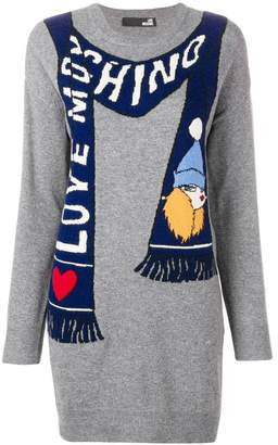 Love Moschino scarf knitted dress