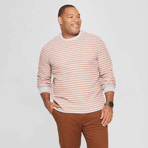 Goodfellow & Co Men's Big & Tall Long Sleeve Textured Crew Neck Shirt