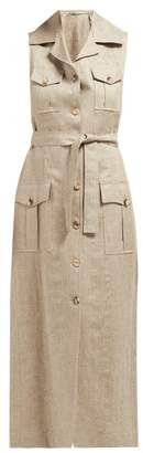 Giuliva Heritage Collection The Mary Angel Linen Midi Dress - Womens - Beige