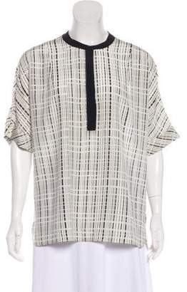 Vince Silk Geometric Top