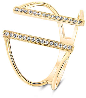 "Cosanuova 18k Gold Diamond Ring ""Bridge"""