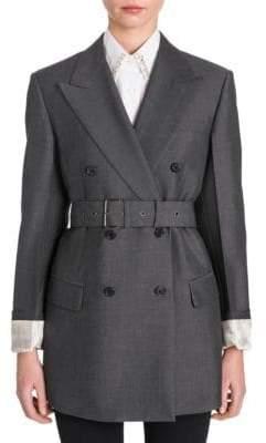 Prada Mohair& Wool Belted Jacket