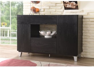 Furniture of America Pablo Contemporary Dining Buffet, Black