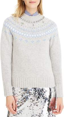 J.Crew Jewel Embellished Fair Isle Sweater
