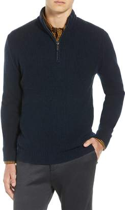 Ben Sherman Regular Fit Quarter Zip Sweater